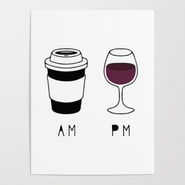 Coffee and Wine Poster