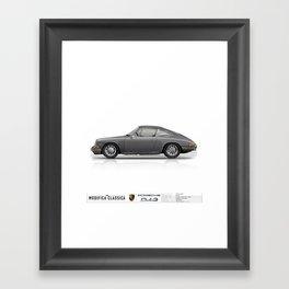 1965 Porsche 912 Slate Grey Single View Framed Art Print