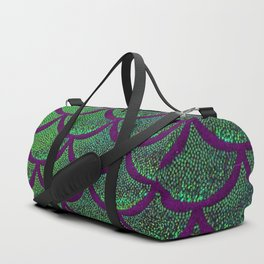 Emerald Eggplant Scales Duffle Bag