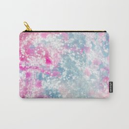 Girly Pink Blue Abstract Bokeh Pattern Art Carry-All Pouch