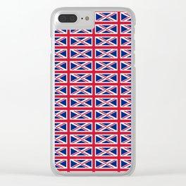 flag of uk 2- London,united kingdom,england,english,british,great britain,Glasgow,scotland,wales Clear iPhone Case