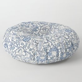 William Morris Navy Blue Botanical Pattern 6 Floor Pillow