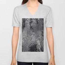 gush of dots in black and white Unisex V-Neck