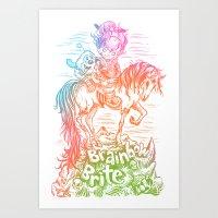 Brainbow Brite.  Art Print