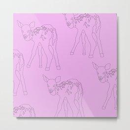 Foal Bambi Metal Print