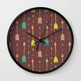 Bohemian hand drawn arrows, 02 Wall Clock