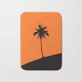 Palm tree at sunset vectorized illustration Bath Mat