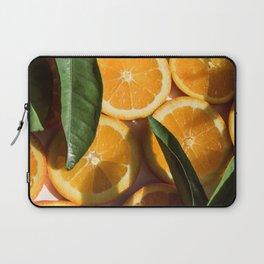 Orange Fruit Pattern Photography Laptop Sleeve