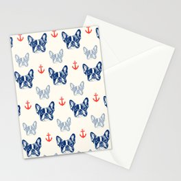 French bulldog pattern Stationery Cards
