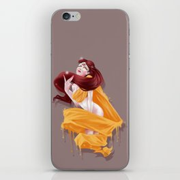 Woman with third eye iPhone Skin