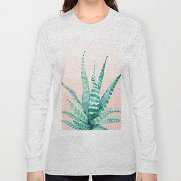 Desert Succulent Aloe Vera Long Sleeve T-shirt