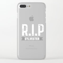 RIP Sylvester Funny Death Hoax Practical Joke Prank Gift Clear iPhone Case