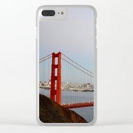 GOLDEN GATE BRIDGE - TWILIGHT - CALIFORNIA Clear iPhone Case