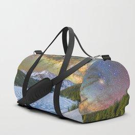 Milky way over Clinton reservoir Duffle Bag