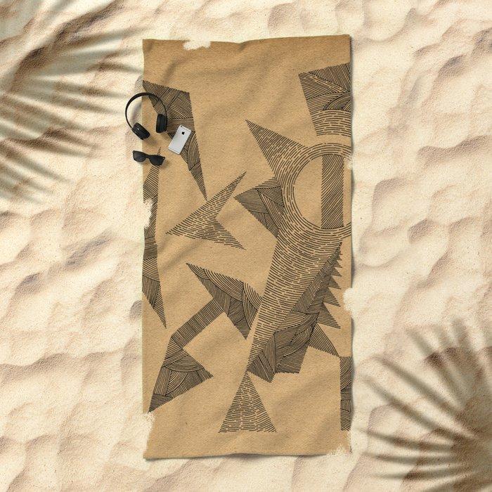 - silence - Beach Towel