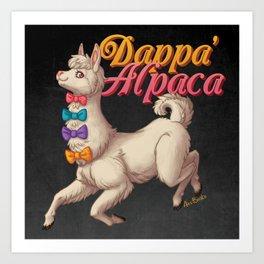 Dappa' Alpaca Art Print