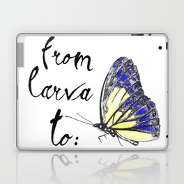 From larva to butterly Laptop & iPad Skin