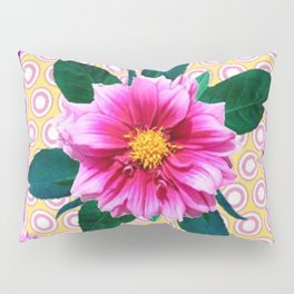 FUCHSIA DAHLIA FLOWERS ABSTRACT Pillow Sham