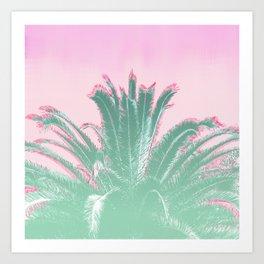 Palm Tree Leaves Tropical Vibes Design Art Print