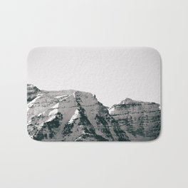 Black and White Wasatch Mountains Bath Mat