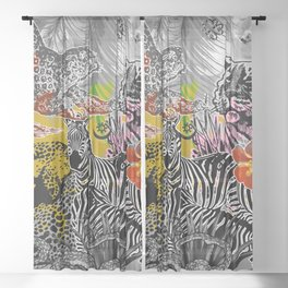 African dream Sheer Curtain