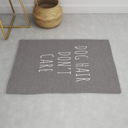 Dog Hair Funny Quote Rug