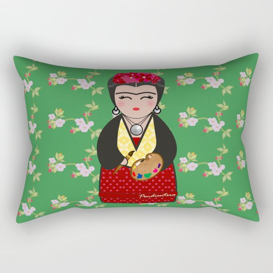 Kokeshi Frida Kahlo Rectangular Pillow