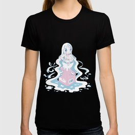 neon milk girl T-shirt