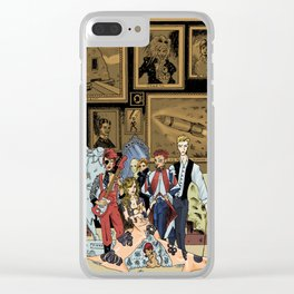 The League of Extraordinary David Bowies Clear iPhone Case