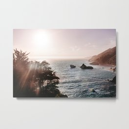 California Coastal Mist Metal Print