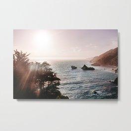 California Coastal Mist Metal Print