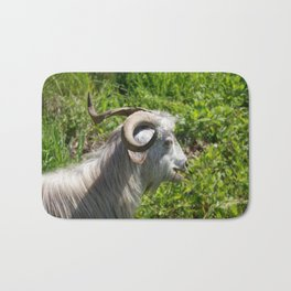 Side View of A Billy Goat Grazing Bath Mat