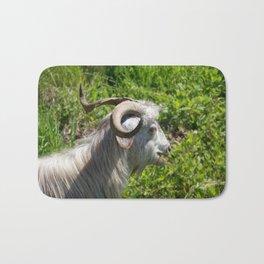 Side View of A Billy Goat Grazing Bath Mat