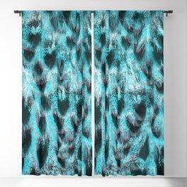 Blue plumage Blackout Curtain