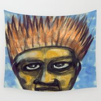 ali gulec Wall Tapestries featuring Surf's Up ~ Indonesia Art by Ali by FiVe