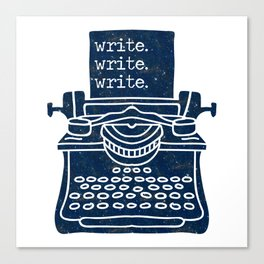 Write Write Write (Space) Canvas Print