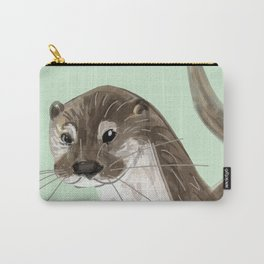 Happy Otter (Lutra lutra) Carry-All Pouch