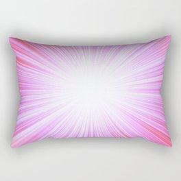 Pink Rays Rectangular Pillow