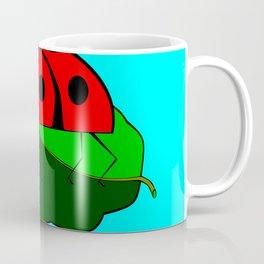 A Ladybug on a Leaf Coffee Mug
