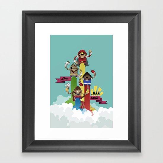 Street Fighter 25th Anniversary!!! Framed Art Print