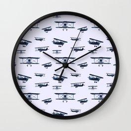 Retro airplanes #2 || watercolor Wall Clock