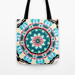Happy Blue Swirl Tote Bag