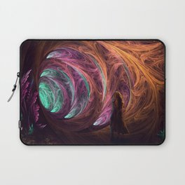 Towards The Light - Alice in Wonderland - White Rabbit - Fractal Laptop Sleeve