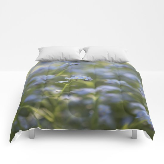 Forget me not in LOVE Comforters