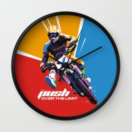 Motocross - Push Over The Limit #2 Wall Clock