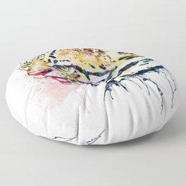Ocelot Head Floor Pillow
