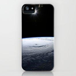 85. Space Station Flight Over Hurricane Lane iPhone Case