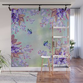 lilac, Purple, Burgundy, mix Turquoise Wall Mural