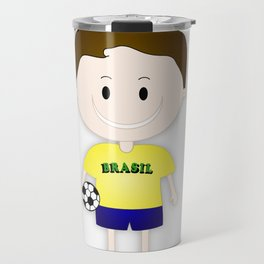 Football Copa Boy Brazil 2014 Travel Mug