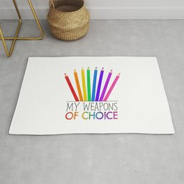 My Weapons Of Choice  |  Pencil Crayons Rug